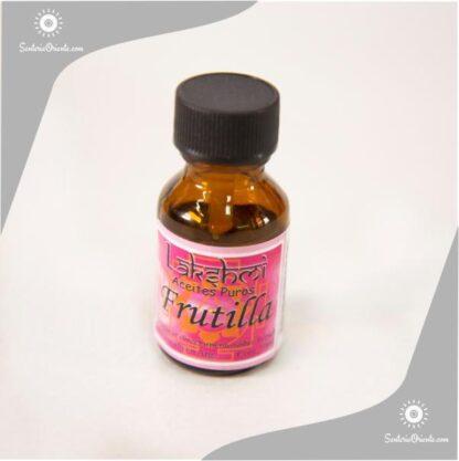 Aceite de frutilla puro en envase de 10 cc para hornilos