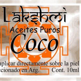 etiqueta de aceite de coco