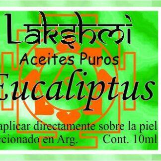 etiqueta de aceite de eucaliptus
