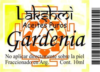 etiqueta aceite gardenia