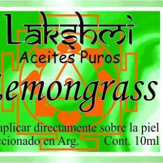 etiqueta aceite de lemongras