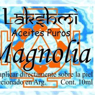 etiqueta de aciete de magnolias