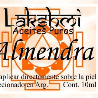 etiqueta de aceite de almendra