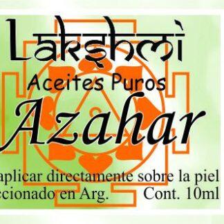 etiqueta de aceite de azahar