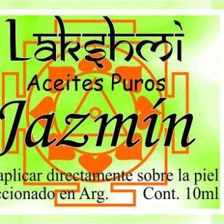 etiqueta aceite jazmin