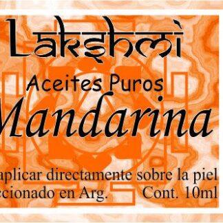 etiqueta de aceite de mandarina