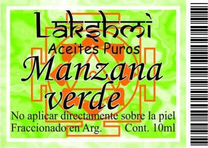 etiqueta manzana verde aceite