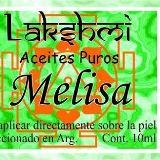 etiqueta de aceite de melisa