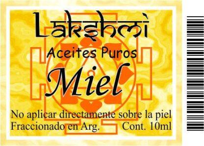 etiqueta de aceite de miel