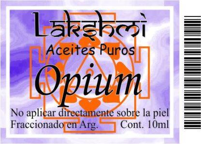 etiqueta aceite de opium