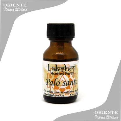 etiqueta de aceite de palo santo