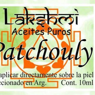 etiqueta aceite de patchouly