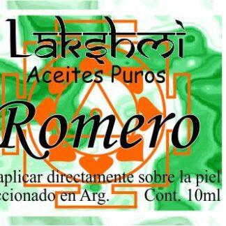 etiqueta aceite romero
