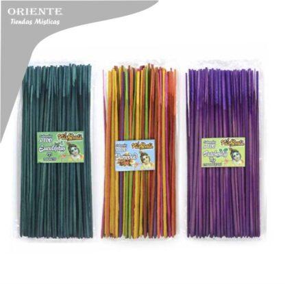 sahumerio nacional x 100 varillas economico nishadali surtidos color verde y color violeta