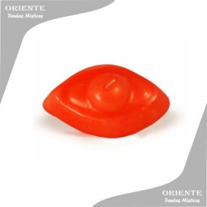 vela de forma color roja chata con fondo blanco