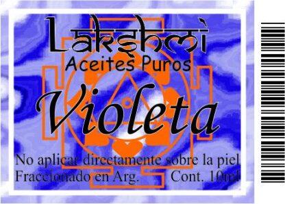 etiqueta aceite violeta aromatico