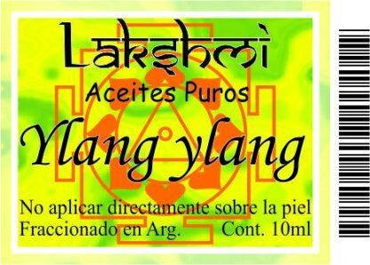 etiqueta aceite ylang ylang