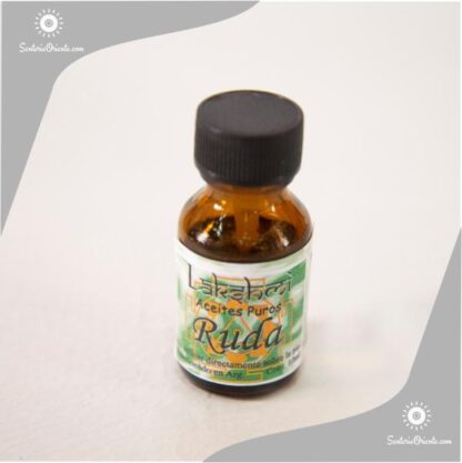 Aceite de Ruda puro en envase color caramela 10 cc