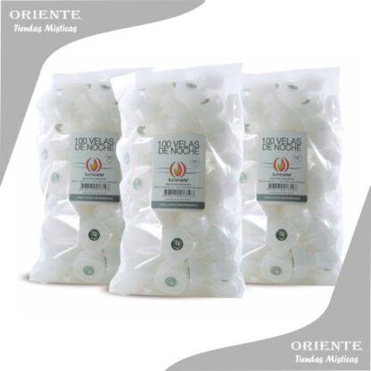 velas de horno en bolsas de 100 unidades color blanca