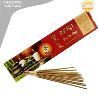 sahumerio e inciensos para reiki dai co myo enligtenment caja roja con letras en dorada con sahumerios masalas Dai ko Myo