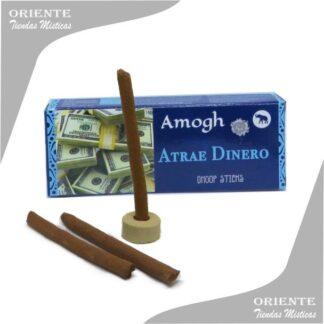 Sahumerio doop atrae dinero con tres barras de incienso y un portasahumerio