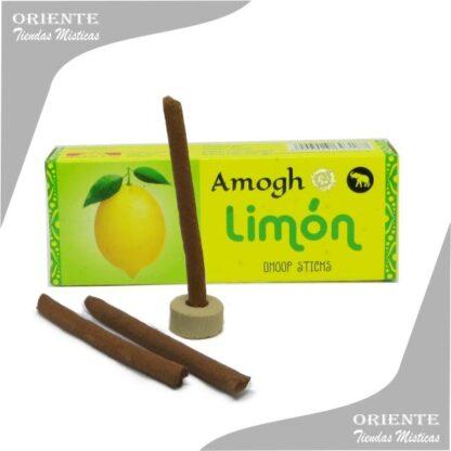 Sahumerio incienso limon doop con tres barras de sahumerio y portasahumerio caja amarilla