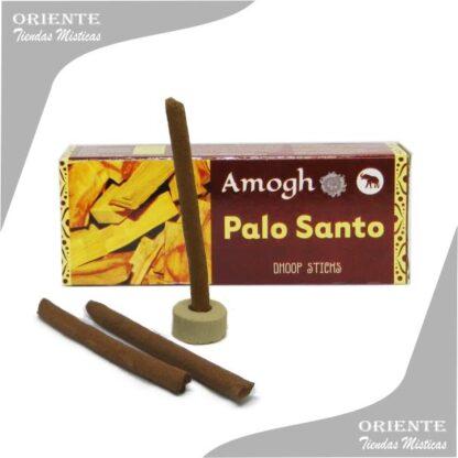 sahumerio incienso de palo santo doop con tres barras de puro sahumerio y un portasahumerio la caja es marron