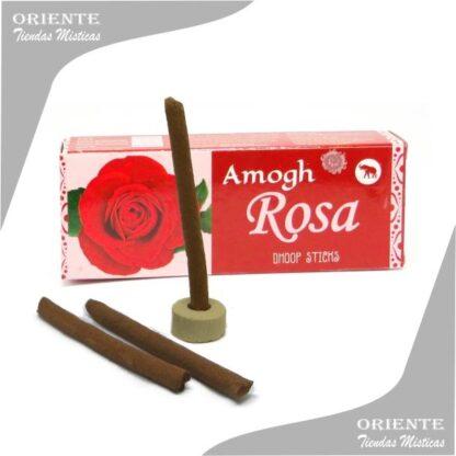 sahumerio incienso doop de Rosa con 3 barritas de pasta y un portasahumerio