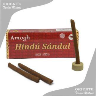 sahumerio incienso doop de hindu sandal caja color morarda con tres doop y un portasahumerio