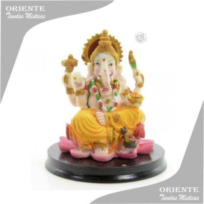 portasahumerios Ganesh con base 12 cm colorida