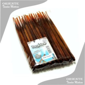 sahumerio artesanal triple empaste palo santo color marron marca bangladesh