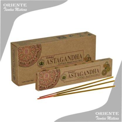 Sahumerio astanganda caja color madera con 3 variilas de incienso