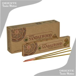 sahumerio sandalwood goloka con tres incienso en su base