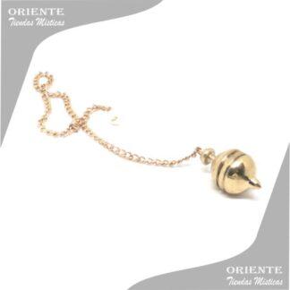 Pendulo de bronce chico esferico con cadena