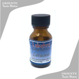 aceite lavacasa puro de 10 cc en botella color caramelo