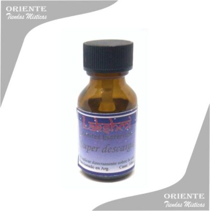 aceite super descarga puro de 10 cc en botella color caramelo