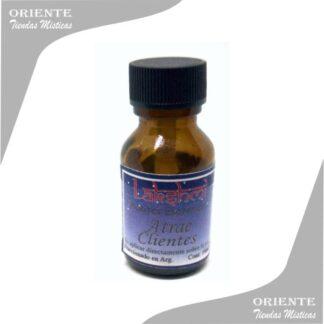 aceite atrae clientes puro de 10 cc en botella color caramelo
