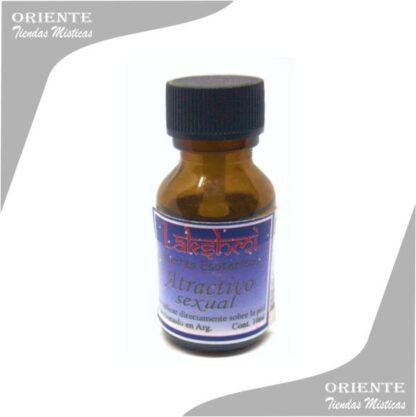 aceite atractivo sexual puro de 10 cc en botella color caramelo