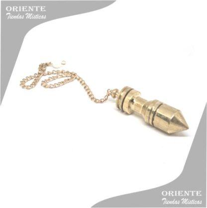 pendulo egipcio con testigo de bronce con cadena