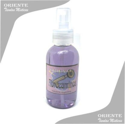 Loción abrecamino , de color lila también denominado spray aurico para abrir caminos o perfume abrecaminos