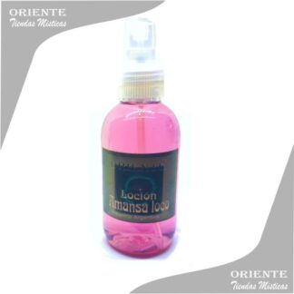 Loción amansa loco , de color lila también denominado spray aurico para amansar o perfume amansa