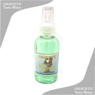 Loción destrabe , de color verde también denominado spray aurico destrabe perfume destrabe