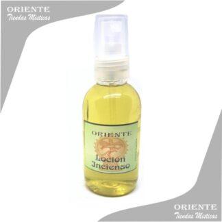 Loción incienso, de color amarillo también denominado spray aurico de insieso o perfume de incienso
