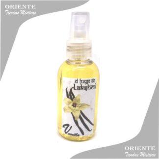 Loción vainilla , de color amarillo también denominado spray aurico de vanilla o perfume de vainilla