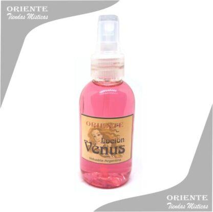 Locion venus, de color rosado también denominado spray aurico venus o loción de venus