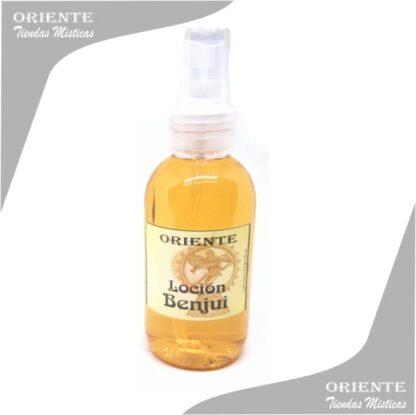 Loción benjui, de color amarillo también denominado spray aurico de beyui o perfume de benjui