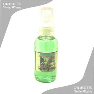 Locion san jorge, de color rojo con etiqueta del santo también denominado spray aurico san jorge perfume san jorge