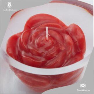 Vela flotnate gigante en forma de pimpollo de rosa