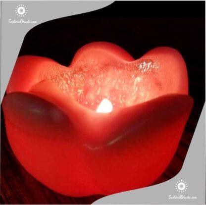vela pimpollo gigante en color rojo tambien viene en blanco encedida