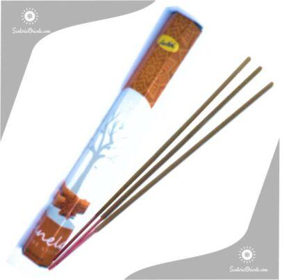 caja marron sahumerio de la india de canela sree vani